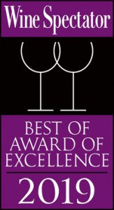 Wine Spectator 2019 - Best of award of excellence