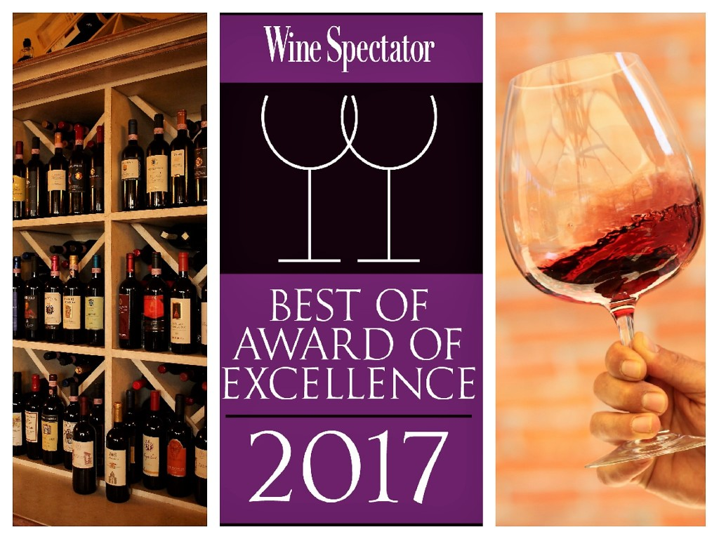 Wine Spectator Award 2017 Best of Award of Execellence for Ristorante Walter Redaelli